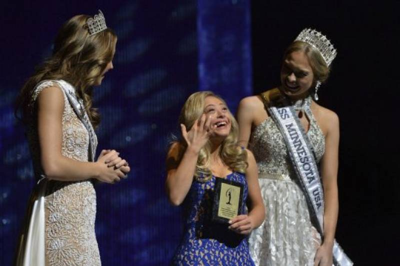 Mikayla Holmgren becomes the first person with Down's Syndrome to compete in a Miss USA State pageant