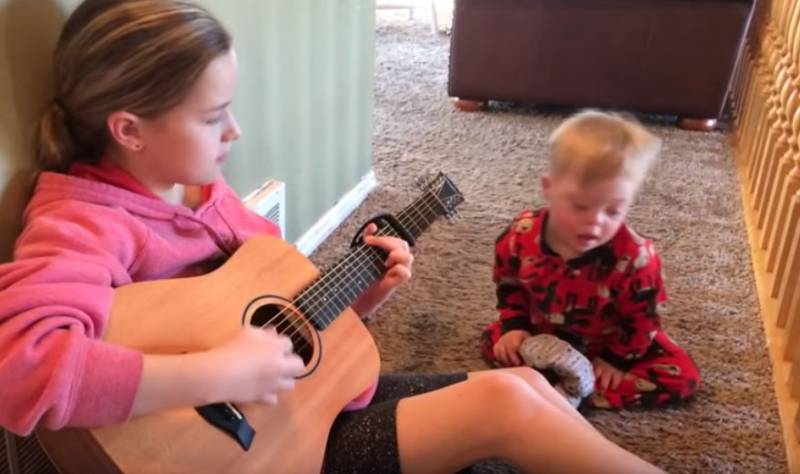 Toddler With Down Syndrome Says His First Word After His Sister Sings Him A Song, And It Will Melt Your Heart