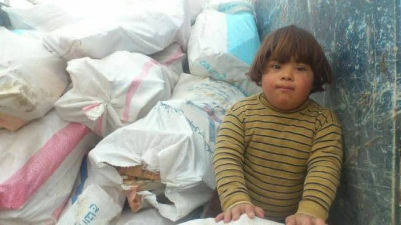 Tragedy of five-year-old with Down's syndrome now in a refugee camp