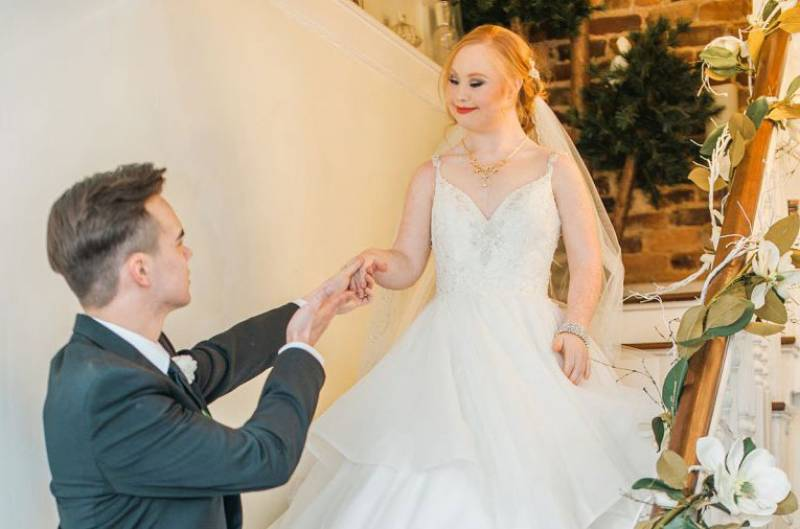 This model with Down's Syndrome is breathtakingly beautiful in this stunning fairy tale wedding photoshoot