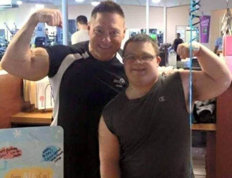 Bodybuilder with Down's Syndrome is pumped and ready for his first competition