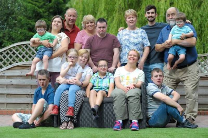 Family adopted nine children with Down's Syndrome and wouldn't change it for anything