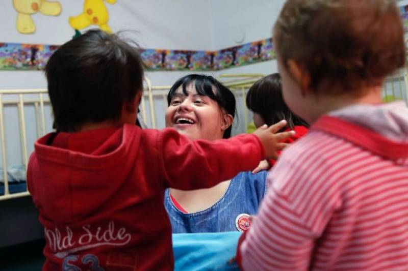 Woman becomes country's first nursery school teacher with Downs syndrome