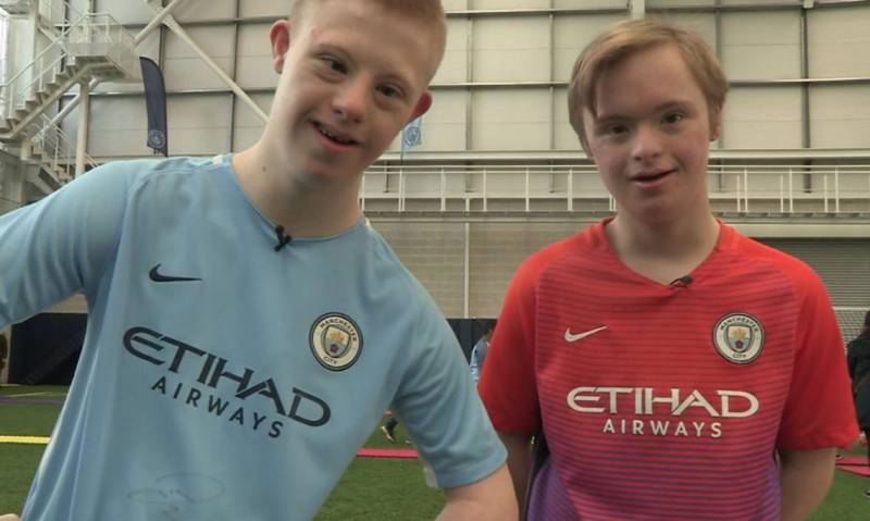 Dan and DJ are part of a football club for Down's Syndrome players